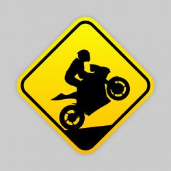 Naklejka motocykl jazda na...